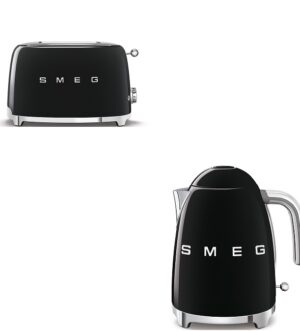 Smeg Black Kettle and Toaster Bundle
