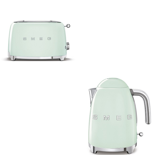 Smeg Pastel Green Kettle And Toaster Bundle Joyces Of