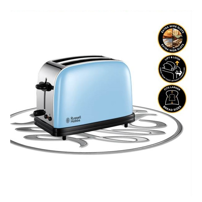 Russell Hobbs Colours Plus Heavenly Blue Toaster 23335 Ireland
