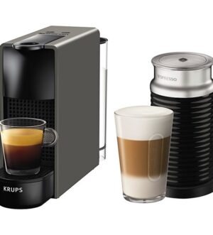 Krups Essenza Mini Nespresso Grey Coffee Machine with Aeroccino 3 XN111B40