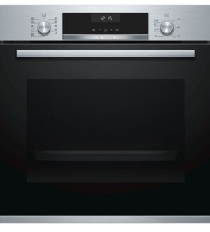 Bosch Brushed Steel 3D Hotair Single Oven with Autopilot HBA5570SOB