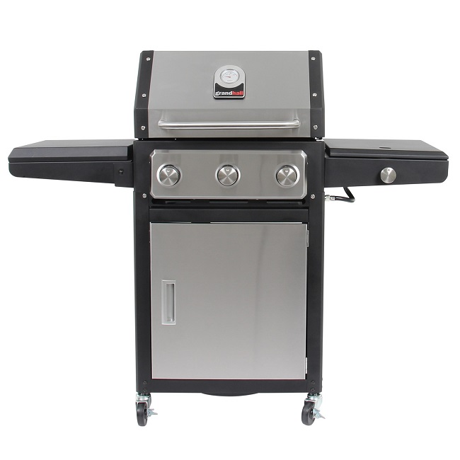 grand hall xenon 3 gas barbecue joyces of wexford. Black Bedroom Furniture Sets. Home Design Ideas