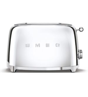 Smeg 50's Retro Style 2 Slice Polished Steel Toaster TSF01SSUK