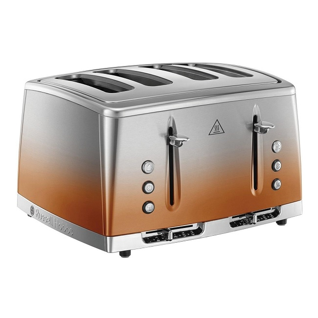 Russell Hobbs Eclipse 4 Slice Toaster Copper Sunset 25143