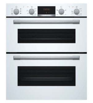 Bosch White Under Counter Double Oven NBS533BW0B
