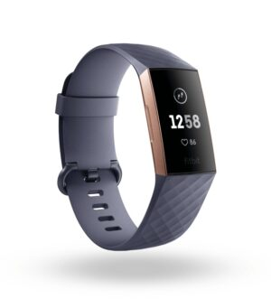 Fitbit Charge 3 Blue Grey & Rose Gold Aluminium FB409RGGY
