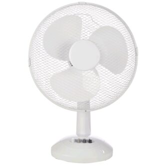 Mercury 12″ Desk Fan White 194126