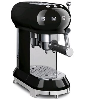 Smeg 50's Retro style Espresso Coffee Machine Black EFCF01BLUK