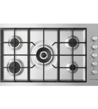 Fisher & Paykel 90cm Gas on Steel 5 Burner Hob, Flush Fit (LPG) CG905DWLPFCX3