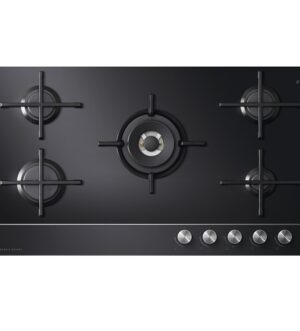 Fisher & Paykel 90cm 5 Burner Gas on Glass Hob (LPG) CG905DLPGB1