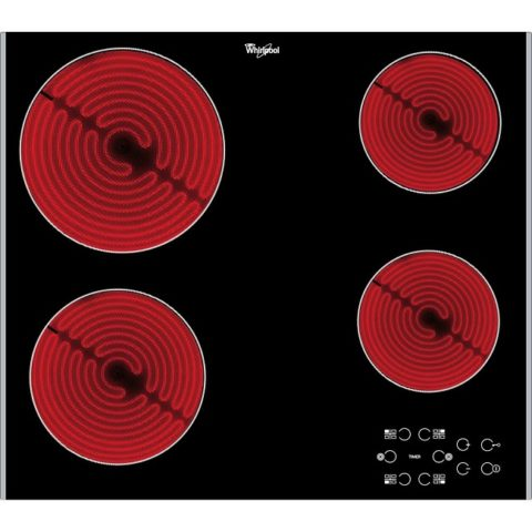 Whirlpool 60cm Ceramic Hob with Black Glass AKT 8090 LX