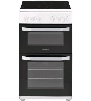 Hotpoint 50cm Electric Twin Cavity Cooker HD5V92KCW