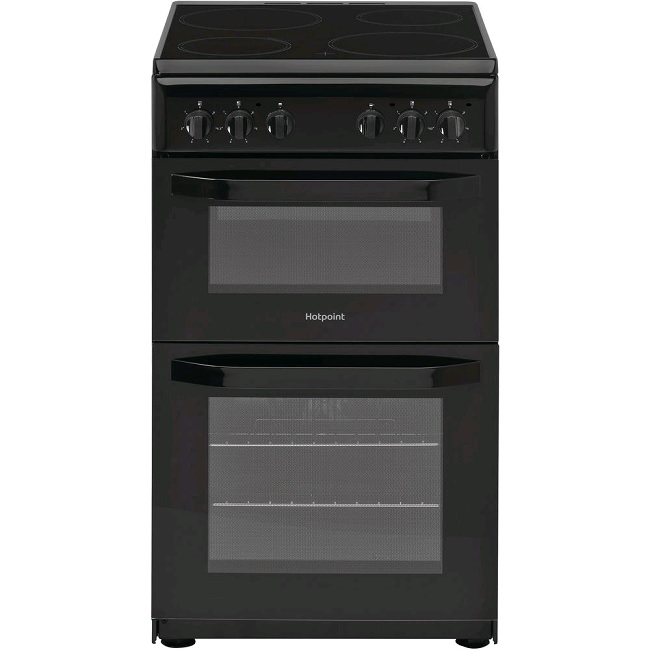 Hotpoint 50cm Electric Twin Cavity Cooker HD5V92KCB