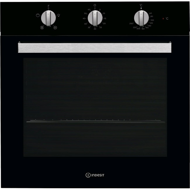 Indesit Built-in Black Easy Clean Electric Single Oven IFW6330BLUK
