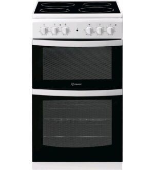 Indesit 50cm White Electric Cooker ID5V92KMW