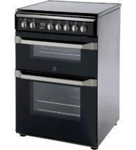 Indesit 60cm Black Electric Cooker ID60C2(K)S
