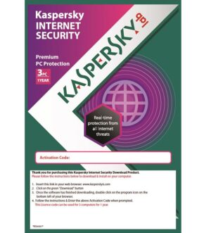 Kaspersky Internet Security 3 user 1 Year Licence