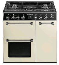 90cm cream range cooker dual fuel