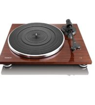 llenco walnut record player with usb