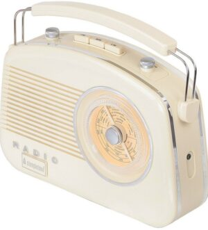 Steepletone Brighton Beige Portable Retro Radio