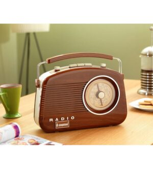 Steepletone Brighton WOOD Portable Retro Radio