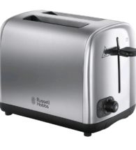 2 slice brushed steel toaster