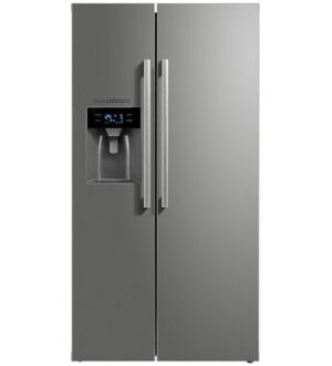 NordMende American No Frost Fridge Freezer with Plumbed Ice & Water RFAMIW490IXLA+