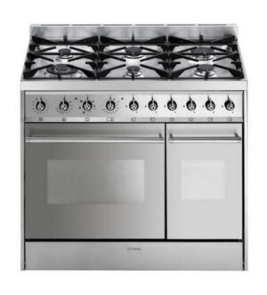 SMEG Dual Fuel Range Cooker Stainless Steel C92DX8