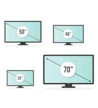 TV's by Size
