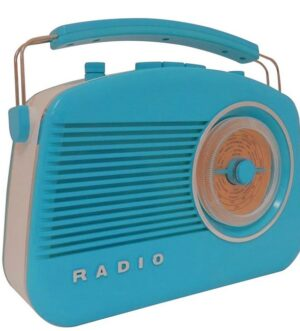 Steepletone Brighton Blue Portable Retro Radio
