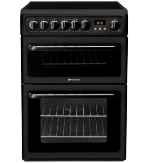 Hotpoint Newstyle Electric Double Cooker Black HAE60KS