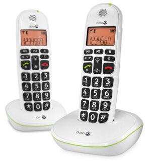 Doro Big Button Cordless Phone Twin Pack   100WT