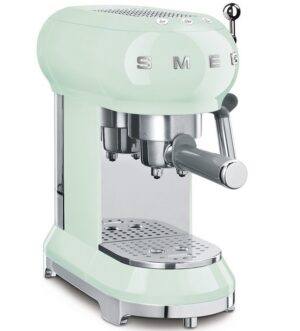 Smeg 50's Retro style Espresso Coffee Machine Pastel Green EFCF01PGUK