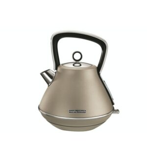 Morphy Richards Evoke Pyramid Retro Kettle, 1.5L Rapid Boil | Platinum | 100103