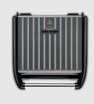 George Foreman Health Grill Steel Grill Grey | Large 25051