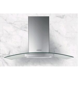 Nordmende 90cm Curved Glass Hood Stainless Steel CHGLS905IX