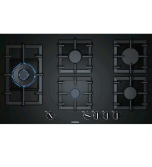 Siemens iQ500 90cm Gas Hob Hard Glass, Black EP9A6SB90