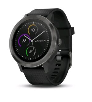 Garmin Vivoactive 3 Smart Watch Black Silicone Slate  | 010-01769-10