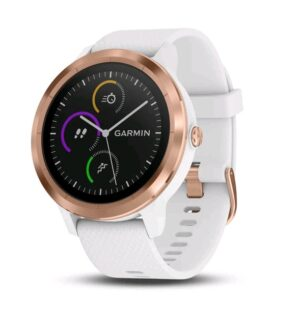 Garmin Vivoactive 3 Smart Watch White Silicone Rose Gold  | 010-01769-05