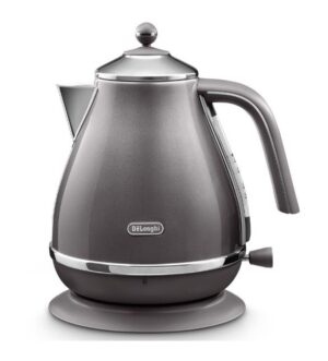 Delonghi Icona Metallics 1.7L Kettle | Grey | KBOT3001.GY