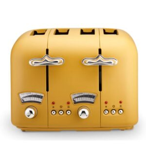 Delonghi Argento Silva 4 Slice Toaster | Yellow | CT04.Y