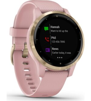 Garmin Vivoactive 4s Dust Rose with Light Gold Hardware | 010-02172-32