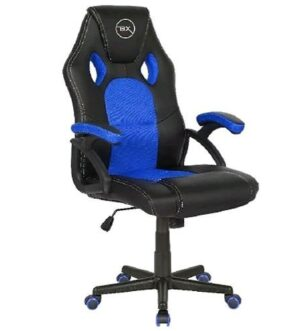 BX Gaming Chair | Black & Blue | TEKGCV02B