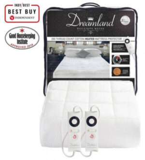 Dreamland Boutique King Heated Mattress Protector Dual Control | 16702D