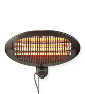 Nedis Wall Mountable Patio Heater 2000W Black | HTPA110EBK