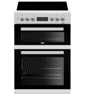 Beko 60cm Double Oven Electric Cooker | White | KDC653W