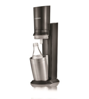 Sodastream Crystal Glass Black Sparkling Water Maker