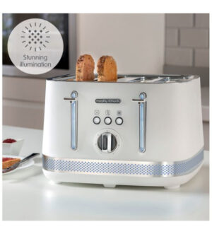 Morphy Richards Illumination 4 Slice Toaster LED Matt White | 248021