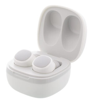 Streetz True Wireless Earbuds in Charge Case White | TWS1109
